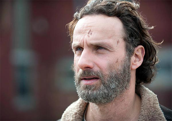 Rick Grimes (Andrew Lincoln) dans The Walking Dead fin de saison 4