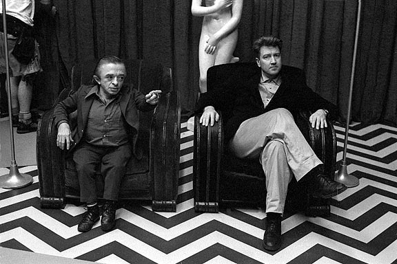 David Lynch sur le tournage de Twin Peaks