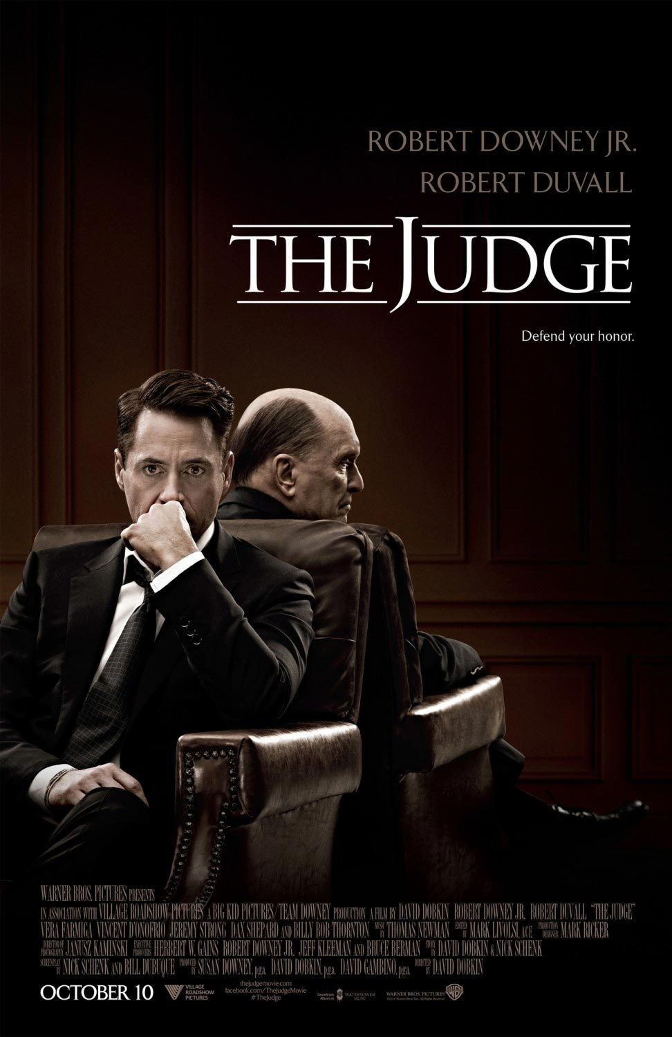 Affiche The Judge 975x1500 - Robert Downey Jr. est un avocat qui doit défendre son père dans le trailer de The Judge