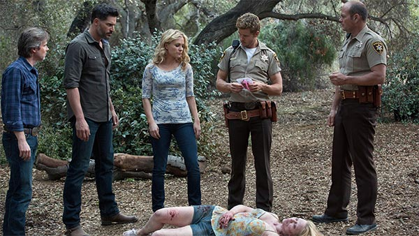 Sam, Alcide, Sookie, Jason et Andy dans l'épisode 2 de la saison 7 de True Blood