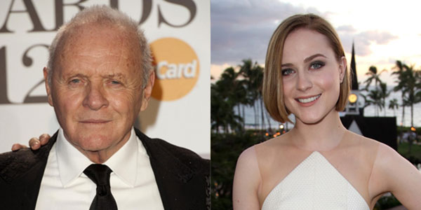 Anthony Hopkins et Evan Rachel Wood