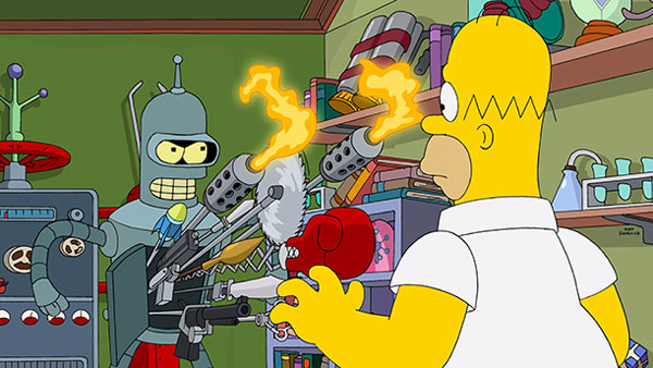 crossover entre Futurama et The Simpsons