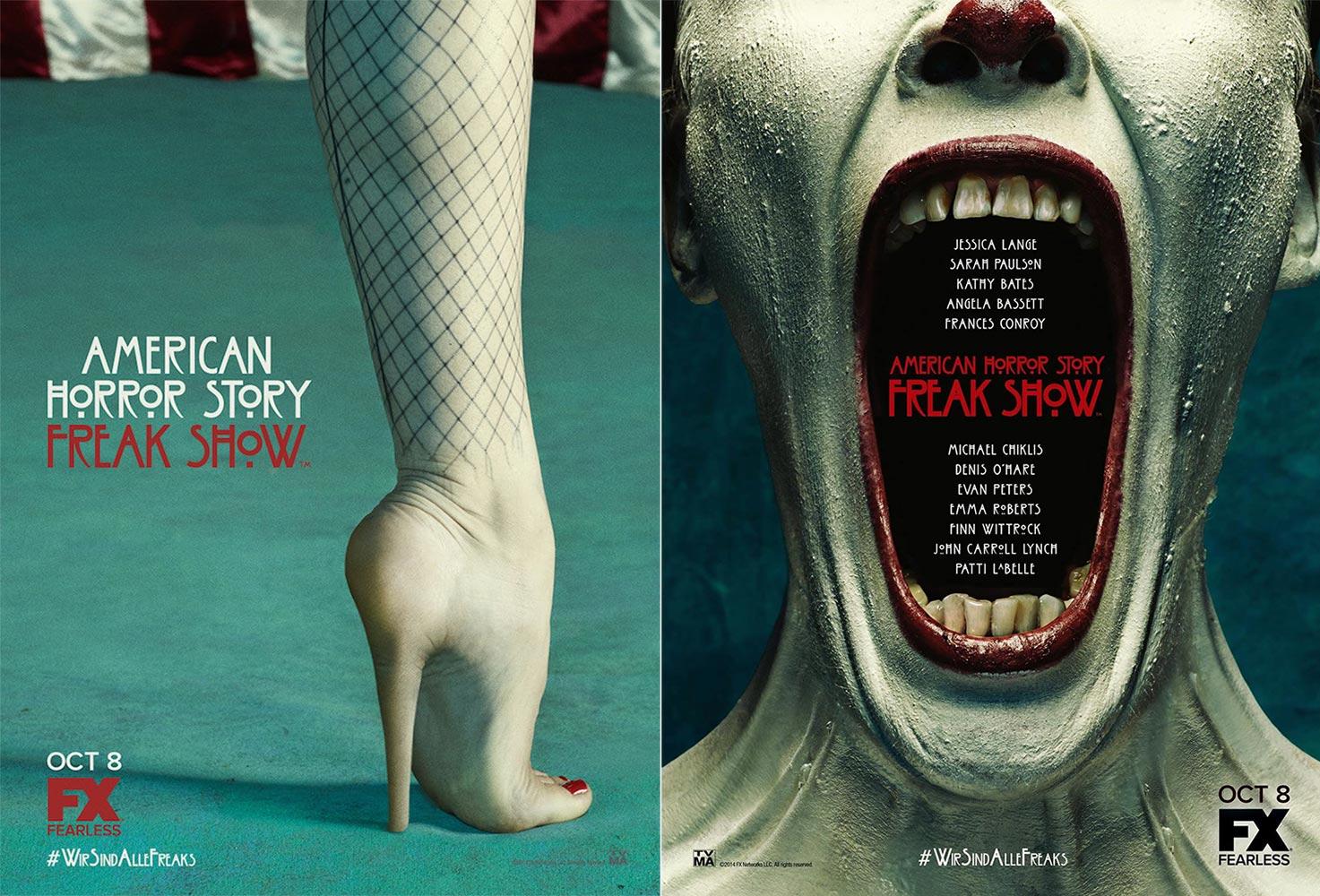 american horror story freak show 1473x1000 - La rentrée s'affiche : retour sur les posters des séries de l'automne 2014