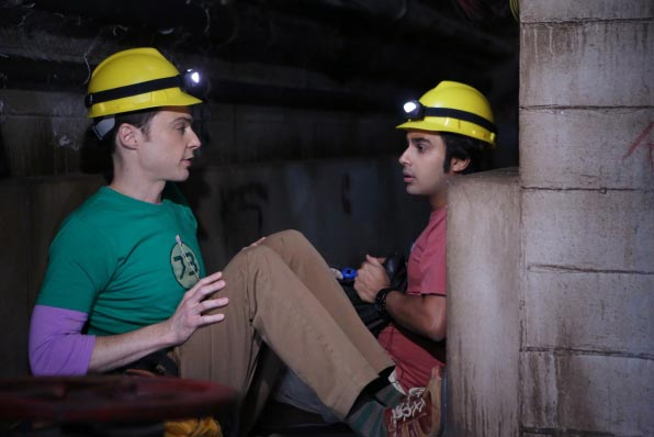 Raj et Sheldon dans The Big Bang Theory saison 8 épisode 6