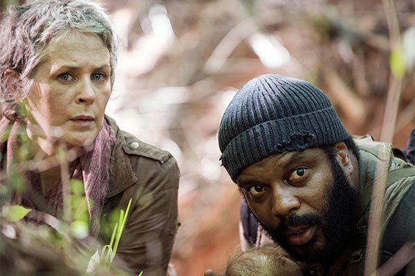 Carol et Tyreese dans The Walking Dead saison 5, episode 1