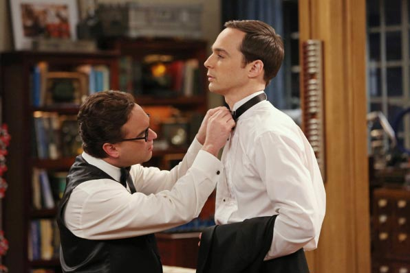 Leonard et Sheldon dans The Big Bang Theory saison 8 épisode 8