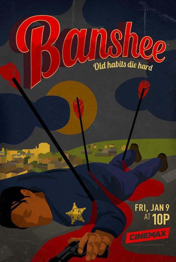 banshee saison 3 poster - Une date et une affiche pour la saison 3 de Banshee