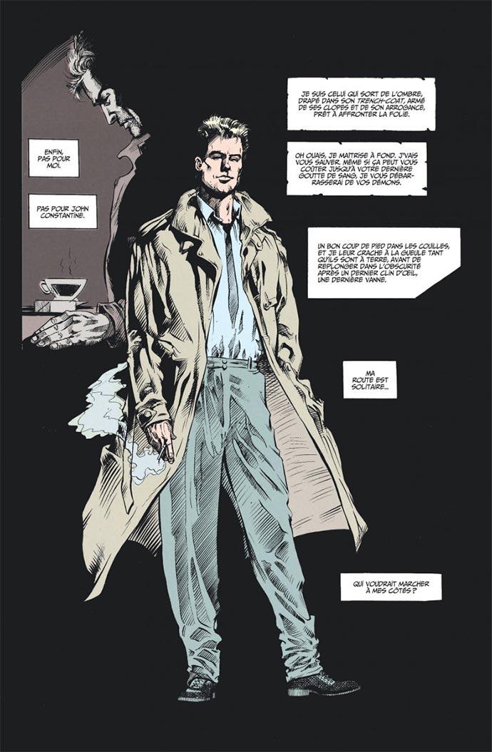 hellblazer 41 planche - Constantine affronte la mort dans Garth Ennis présente Hellblazer