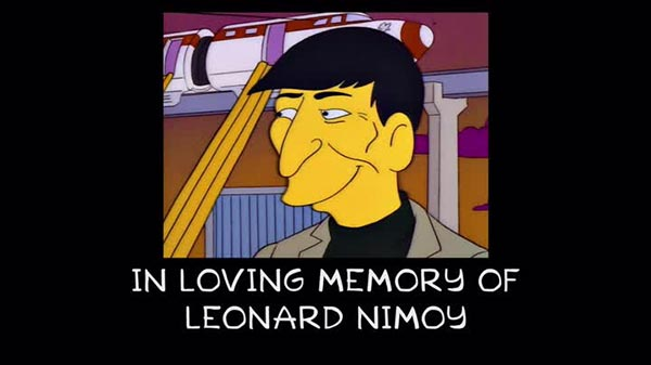 The Simpsons rend hommage à Leonard Nimoy