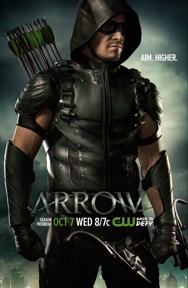 "Arrow saison 4 poster - Oliver Queen ""vise plus haut"" sur l'affiche d'Arrow saison 4"