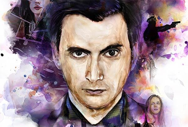 David Tennant Killgrave Poster - David Tennant s'affiche pour Jessica Jones, bientôt sur Netflix